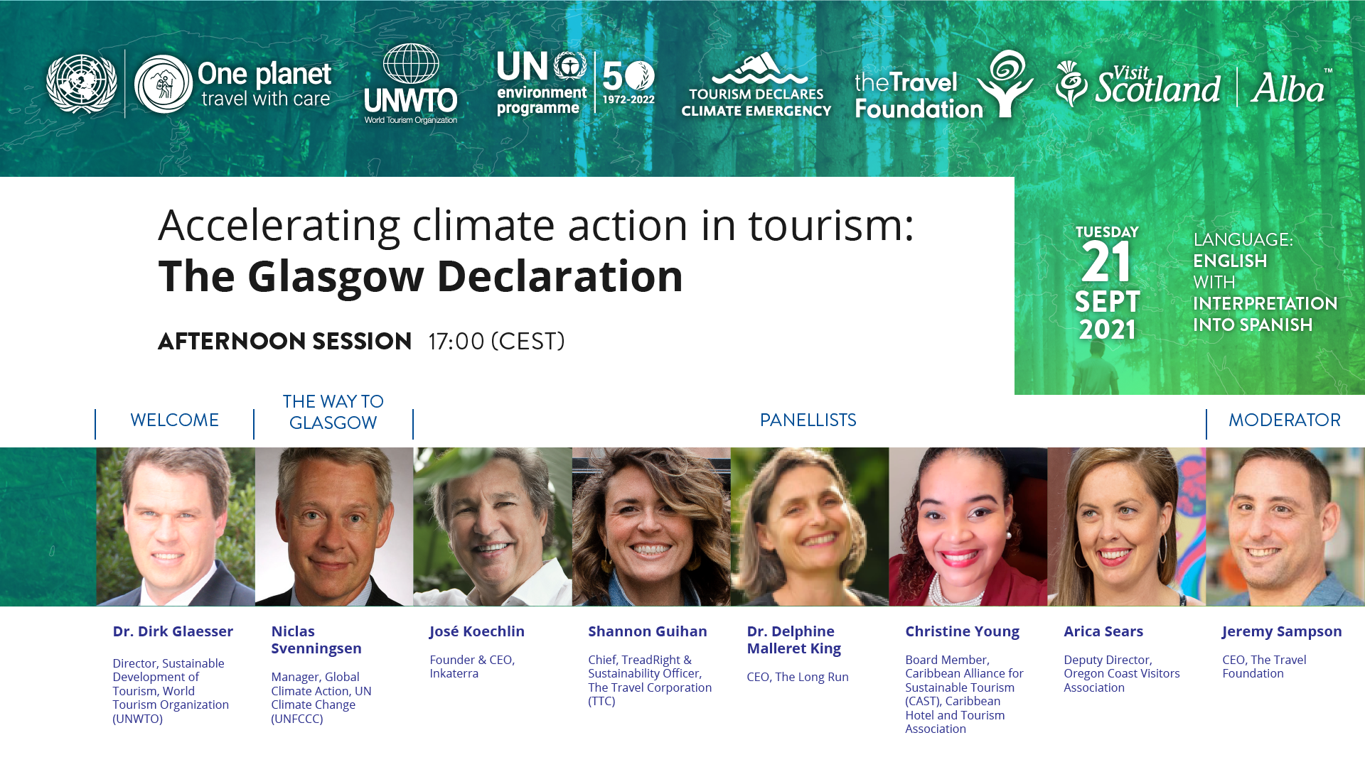 Glasgow declaration launch afternoon session
