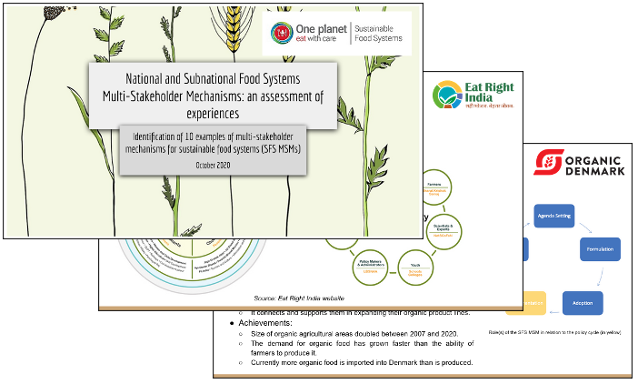 Multi-stakeholder mechanisms food systems programme research study UNEP WWF
